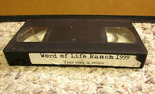 WORD OF LIFE RANCH Week in Review video footage 1999 Christian summer camp VHS