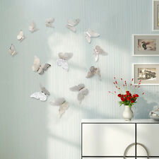 12X 3D Hollow Butterfly Wall Stickers Decal Bedroom Kids Room Home DIY Ornament