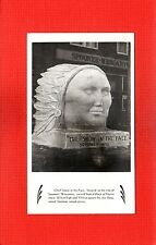 """Spooner,Washburn County,WI Wisconsin """"Chief Snow in the Face"""" Joe Barta carver"""