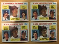 Jim Palmer 1984 Topps Pitching Leaders Cards (x4)
