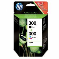 PACK ORIGINAL HP CON UN 300 NEGRO Y UN 300 COLOR