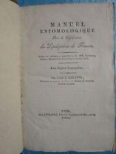 LALANNE : MANUEL ENTOMOLOGIQUE LEPIDOPTERES, 1822. 27 planches HT