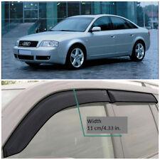 AE11597 Window Visors Sun Guard Vent Wide Deflectors For Audi A6 C5 Sd 1997-2004