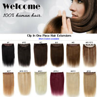 """16 """"18"""" 20 """"22inch 100g Full Head One Piece Clip In Remy Human Hair Extensions"""