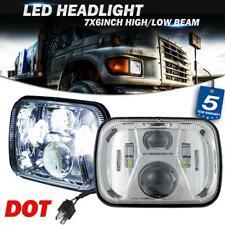 "Pair 5x7"" 7x6"" LED Headlight High Lumen Chrome Lamp for GMC Savana Van Ford F650"