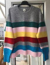 River Island Rainbow Striped Jumper Size S