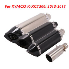 Motorcycle Exhaust Tip Muffler Escape Middle Link for KYMCO K-XCT300i 2013-2017