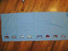 "POTTERY BARN KIDS RAILWAY EXPRESS VALANCE TRAINS BLUE LINED 18"" X 44"""