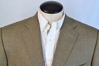 Ermenegildo Zegna Trofeo Roma Recent Brown Plaid Wool Sport Coat Jacket Sz 46L