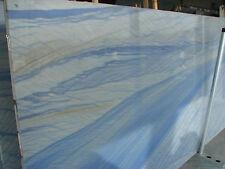 Arbeitsplatte blauer Granit Quarzit Gletscherblau Natursteinplatte Küche Tisch