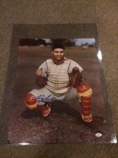 Roy Campanella Autographed 16x20 Photo Brooklyn Dodgers JSA Coa and Letter