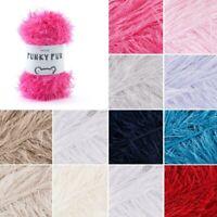 Sirdar Funky Fur Novelty Eyelash Yarn Knitting Knit Crochet Crafts 50g Ball Wool