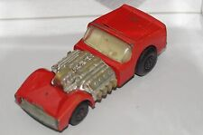 ORIGINAL Matchbox Superfast Road Dragster - No 19 - Red Color - Chrome Motor