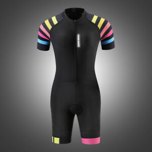 Women Triathlon Suit Cycling Jersey Set Racing Swimming Compression Padded Pants