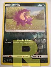 Stunky ® UltraPrisma 75/156 ® Reverse Holo Foil ® Pokemon ® Italiano