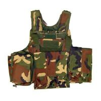 TATTICO SOFTAIR CYRAS IMBOTTITO ROYAL WOODLAND 10 TASCHE V1026WOOD TACTICAL VEST