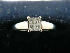 Regal !!! 10K White Gold Engagement / Promise Ring w 1/3 Ct Diamonds, sz 6.75