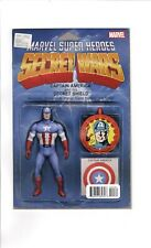 SECRET WARS, CAPTAIN AMERICA #4, Marvel, ACTION FIGURE VARIANT COVER, (CC2) READ