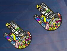 2x SHOCKER STICKER BOMB Full Colour Funny Car/Van/Window/Bumper Printed Stickers