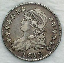 1812 BUST Half Dollar SILVER O-107 Variety VF+/XF Detailing RARE Authentic 50C