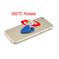 Blue Heart 360° Rotation 3D Ring Stand Mount Holder for iPhone 6 5 4s Smartphone
