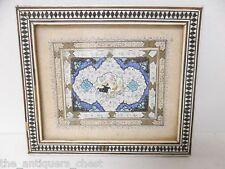 Antique Middle Eastern tile,  hunting scene, 6x5 framed[*tiles]