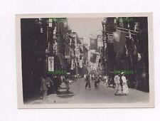 OLD HONGKONG PHOTOGRAPH STREET SCENE HONG KONG WITH FLAGS ETC VINTAGE 1930S