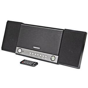 Magnavox MM444BT 3-Piece CD Shelf System with FM Radio and Bluetooth in Grey