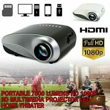 2020 HD 1080P LED Projector Home Theater Mini Multimedia Video HDMI/USB/VGA