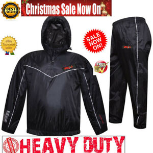 Double Heated Sauna Sweat Suit for WEIGHT LOSS Burn FAT MMA FIGHT BOXING Gym Men