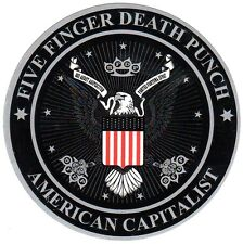 FIVE FINGER DEATH PUNCH American Capitalist Ltd Ed RARE Sticker +FREE Stickers!