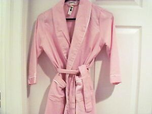 """POTTERY BARN KIDS  FLANNEL ROBE - LARGE  """"PAYTON""""     NEW"""
