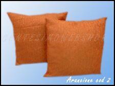 CUSCINO COPPIA ARREDO CASA SALOTTO 42X42 ARANCIONE 2