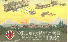 Italy Firenze Air Show  1910  Special Card  Sassone P3