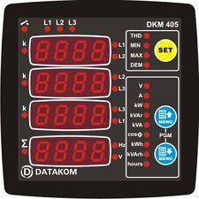 DATAKOM DKM-405 Painel do multímetro do analisador de rede, 3 fases, fonte de al
