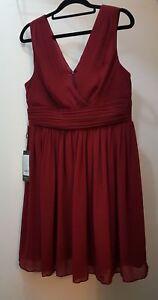 Gorgeous BNWT Ever Pretty Brand Burgundy Cocktail Dress Size 14