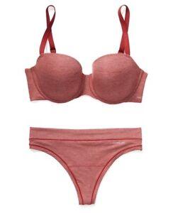 NEW Adore Me Odra T-Shirt Balconette Pad Underwire Bra Thong Panties Set 42G 3x