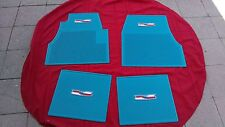 1955 56 57 CHEVY CHEVROLET FLOOR MAT SET WITH CREST LOGO, NICE, COLORS AVAILABLE