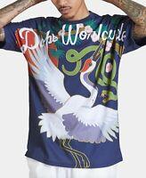 Dope Mens Navy Blue T-Shirt Size Medium M Snake Crane Graphic Tee $40 #111