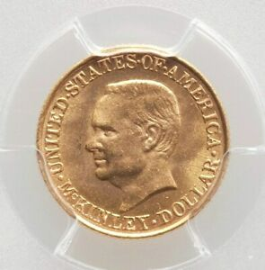 1917 PCGS MS65 McKinley Memorial Gold $1 Dollar Commemorative Commem 5k Mintage