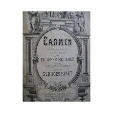BIZET Georges Carmen Opéra 1875 partition sheet music score