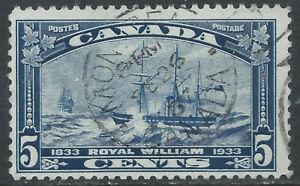 Canada #204(6) 1933 5 cent dark blue ROYAL WILLIAM MONTREAL QUEBEC Used