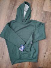 Champion Green Hoodie Sweatshirt Fleece Powerblend Sweats Pullover Front Pouch