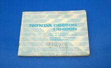 Honda CB250N e CB400N Libretto Uso e Manutenzione 1978 ORIGINALE