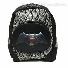 "NEW DC Batman v Superman Movie Large 16"" Molded Hero Logo Backpack for Kids"