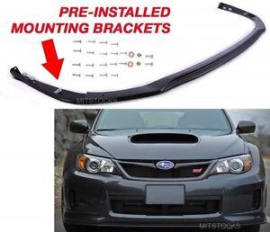 Fit For 11-14 Subaru WRX STI V Limited JDM Front Bumper Lip Spoiler Body Kit PP