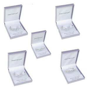 Equilibrium Silver Plated Sentimental Message Bangle Bracelet - Gift Boxed