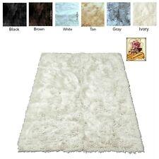 Soft Shaggy Faux Fur Area Rug Throw Accent Play Rug Plush Sheepskin Rectangle