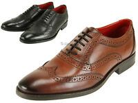 Base London Mens Finest Leather Brogue Shoes Lace Up Style With Grip Rubber Sole