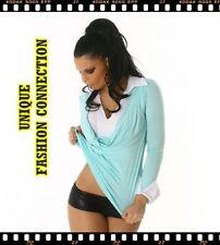 Aqua Polyester Tops for Women